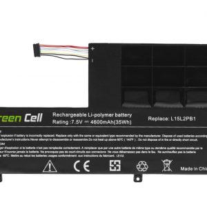 Green Cell L15C2PB1 L15L2PB1 L15M2PB1 akku: Lenovo Yoga 510-14IKB 510-14ISK 510-15IKB 510-15ISK / 7.6V 4600mAh